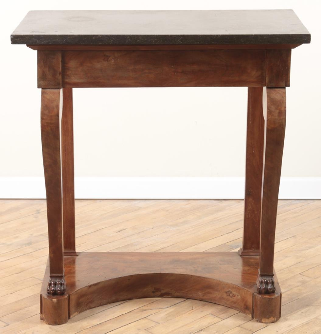 FRENCH EMPIRE STYLE MARBLE TOP WALNUT PIER TABLE - 2