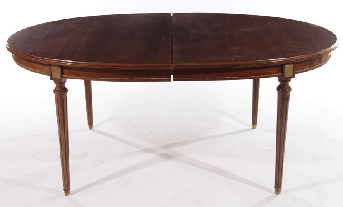 LOUIS XVI STYLE MAHOGANY DINING TABLE 1940