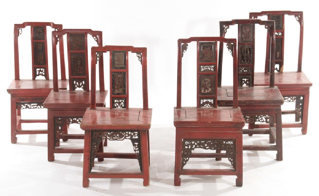 SET OF 6 EARLY 20TH CENTURY CHINESE CHAIRS
