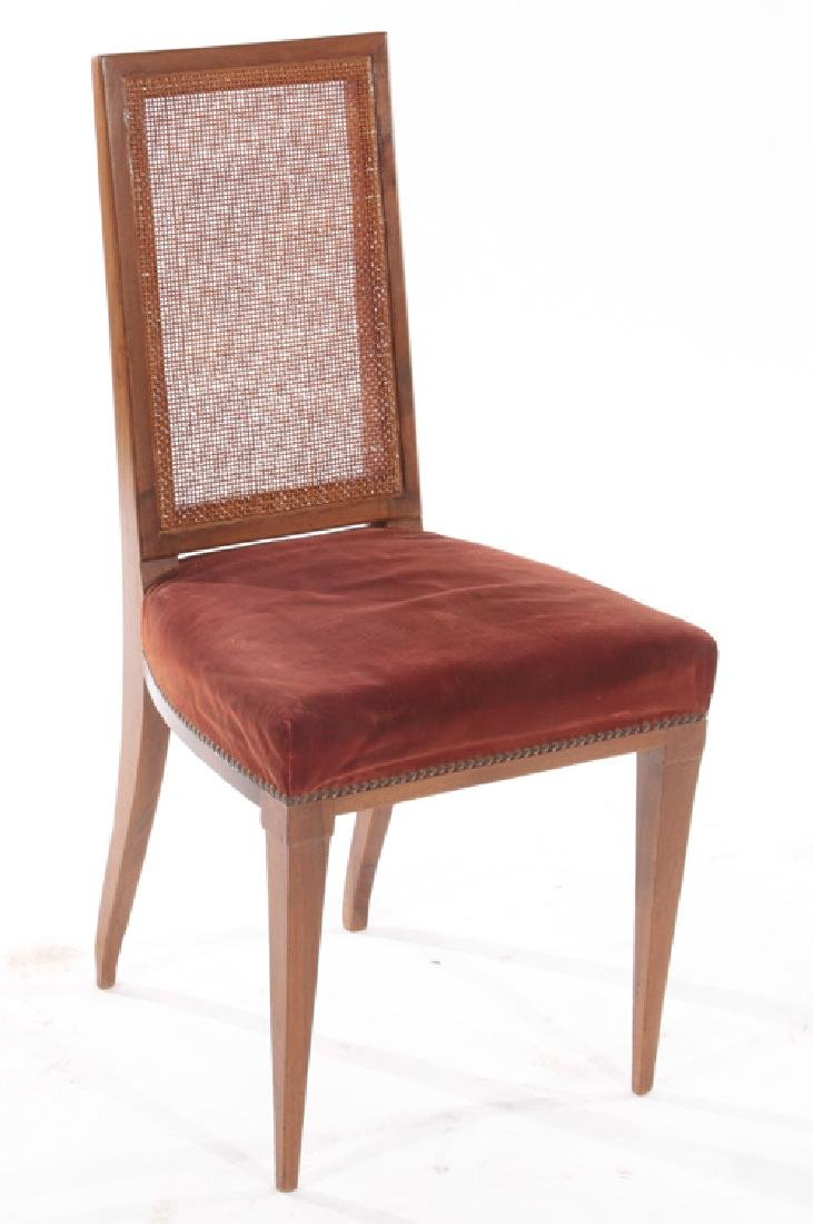 PAIR MAHOGANY SIDE CHAIRS UPHOLSTERED 1930 - 2