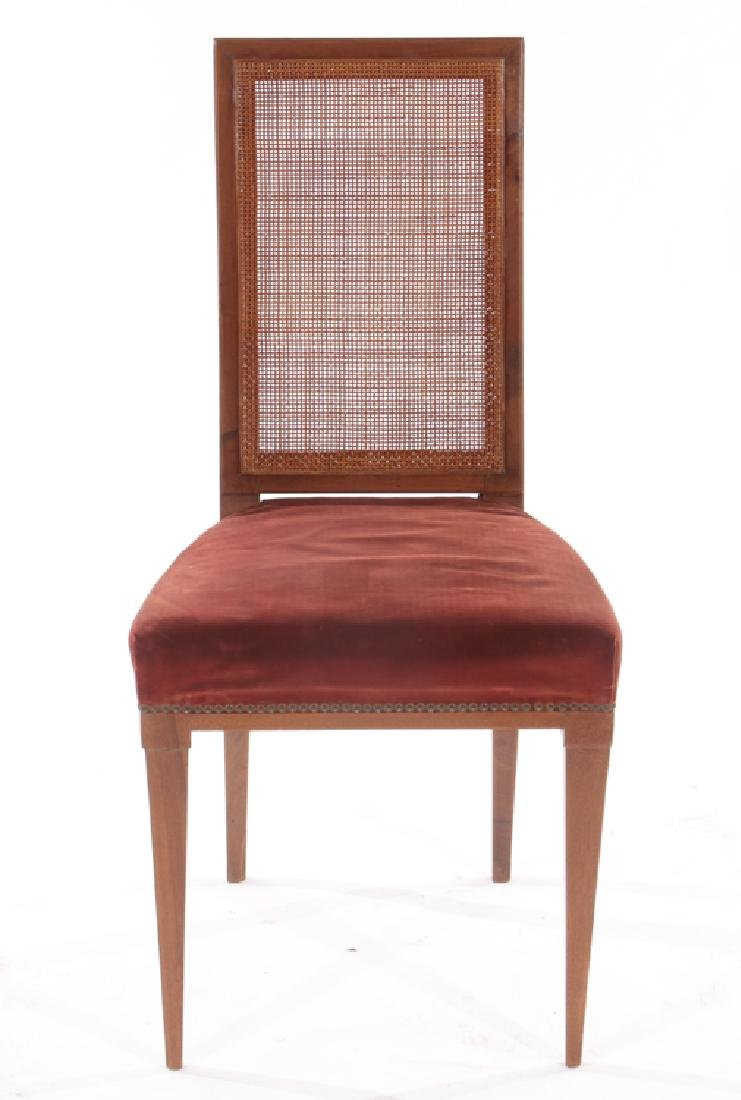 PAIR MAHOGANY SIDE CHAIRS UPHOLSTERED 1930 - 3