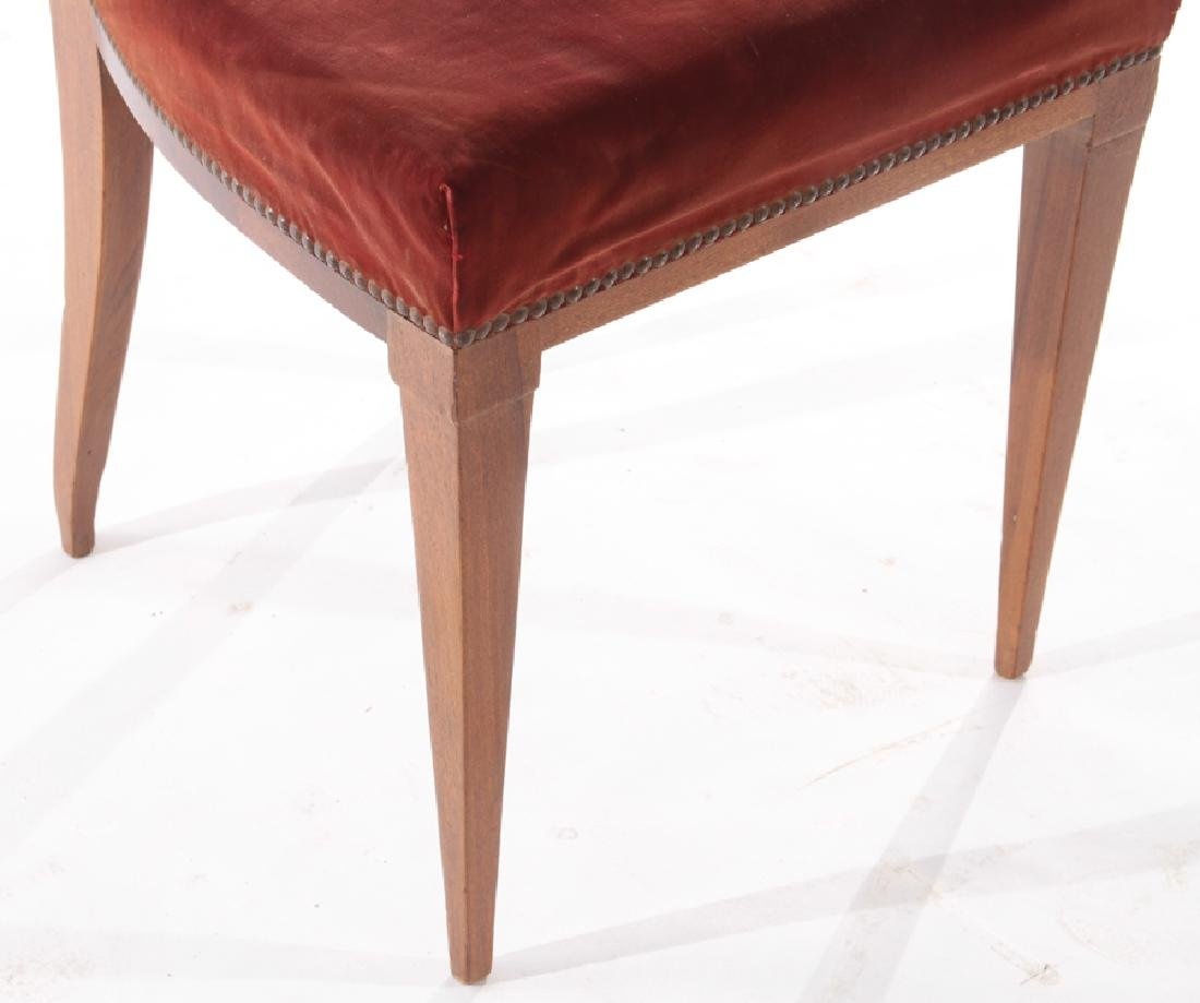PAIR MAHOGANY SIDE CHAIRS UPHOLSTERED 1930 - 5