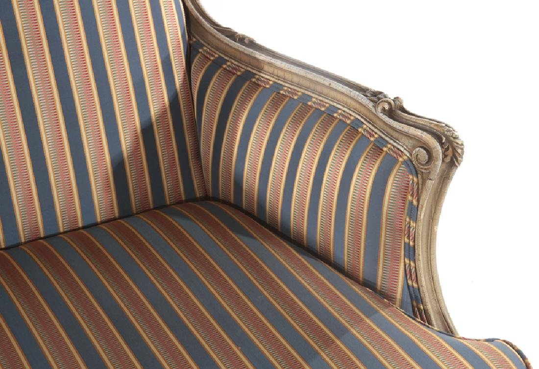 LOUIS XV STYLE CARVED BERGERE CHAIR C. 1920 - 4