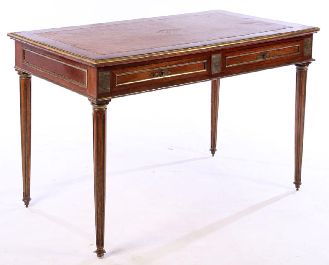 FRENCH DIRECTOIRE WRITING DESK INSET LEATHER 1930