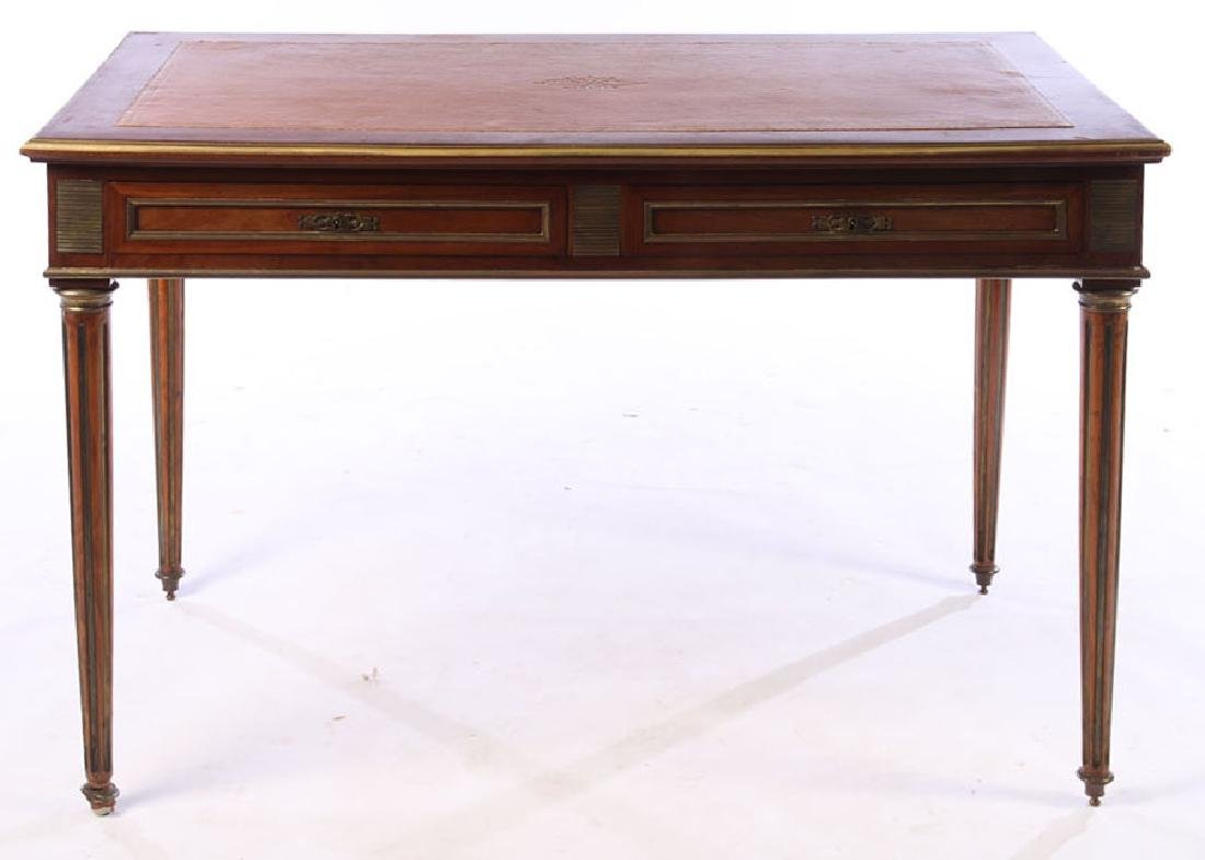 FRENCH DIRECTOIRE WRITING DESK INSET LEATHER 1930 - 2