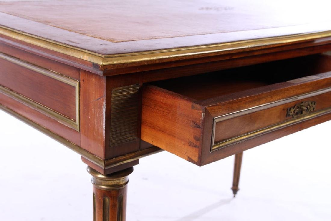 FRENCH DIRECTOIRE WRITING DESK INSET LEATHER 1930 - 4