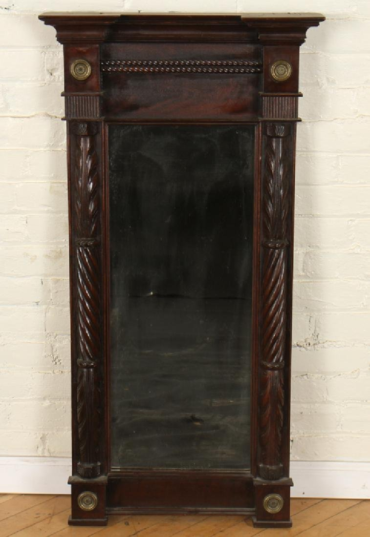 19TH CENTURY MIRROR WITH BRONZE MEDALLIONS