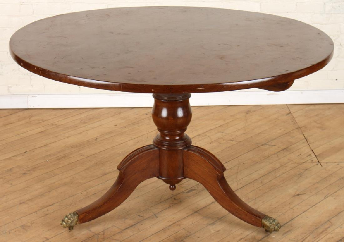 LATE 19TH C ITALIAN AFRICAN MAHOGANY CENTER TABLE