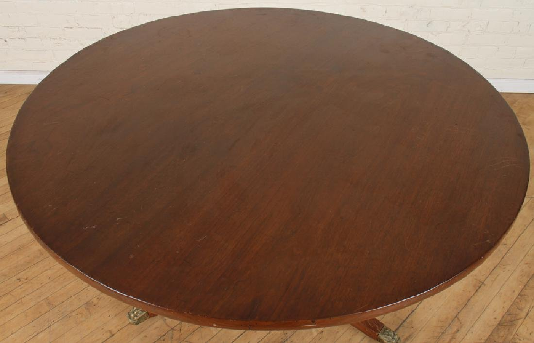 LATE 19TH C ITALIAN AFRICAN MAHOGANY CENTER TABLE - 2