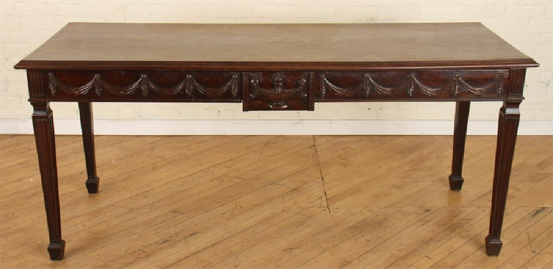 GEORGIAN STYLE CARVED MAHOGANY CONSOLE TABLE