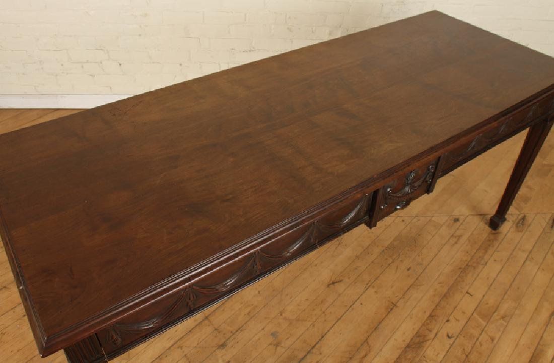 GEORGIAN STYLE CARVED MAHOGANY CONSOLE TABLE - 3