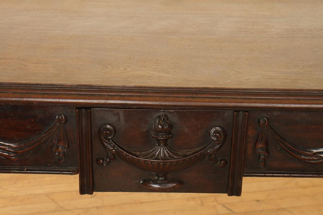 GEORGIAN STYLE CARVED MAHOGANY CONSOLE TABLE - 4