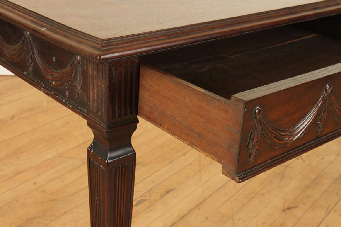 GEORGIAN STYLE CARVED MAHOGANY CONSOLE TABLE - 5