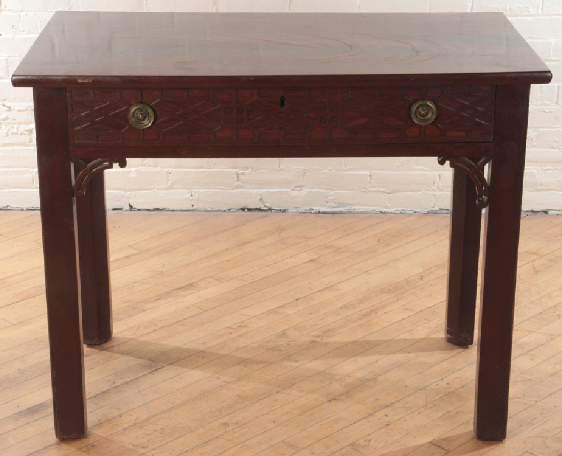 19TH CENT. CHIPPENDALE STYLE MAHOGANY CONSOLE