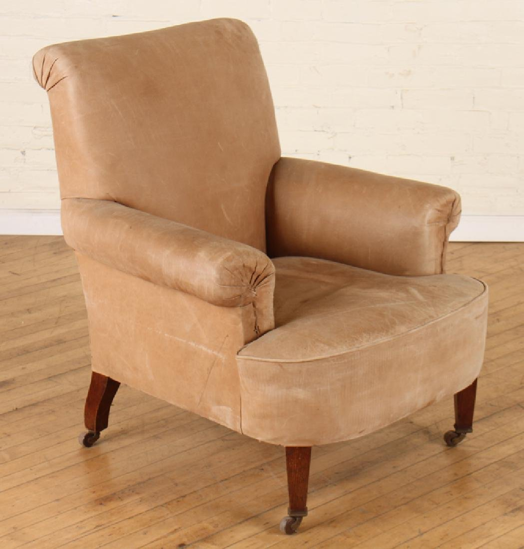 PAIR EDWARDIAN STYLE LEATHER CLUB CHAIRS C.1920 - 2