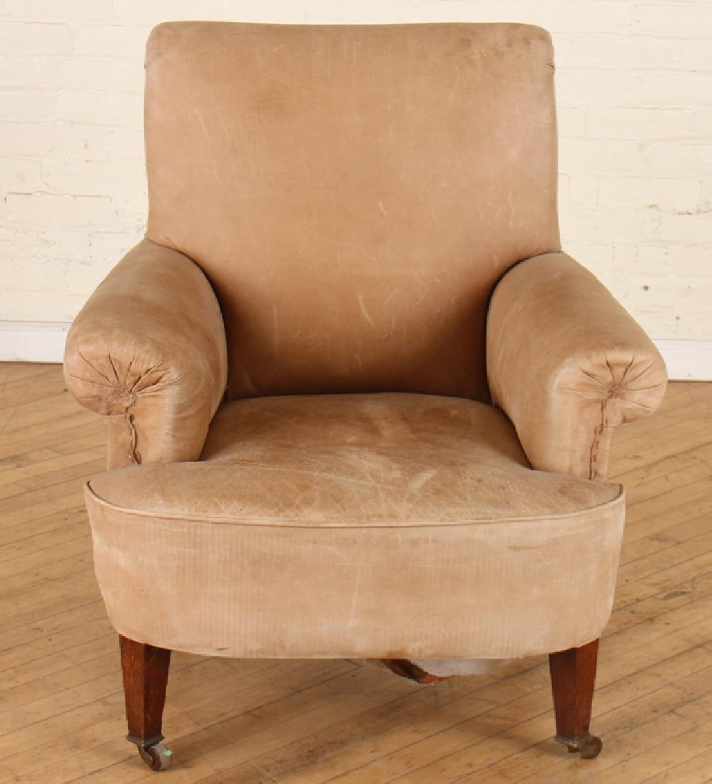 PAIR EDWARDIAN STYLE LEATHER CLUB CHAIRS C.1920 - 3