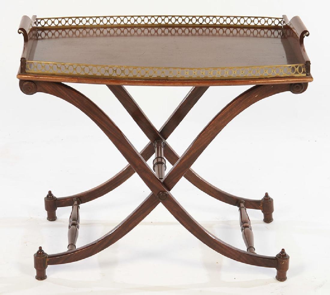 REGENCY STYLE MAHOGANY SIDE TABLE BRASS 1950
