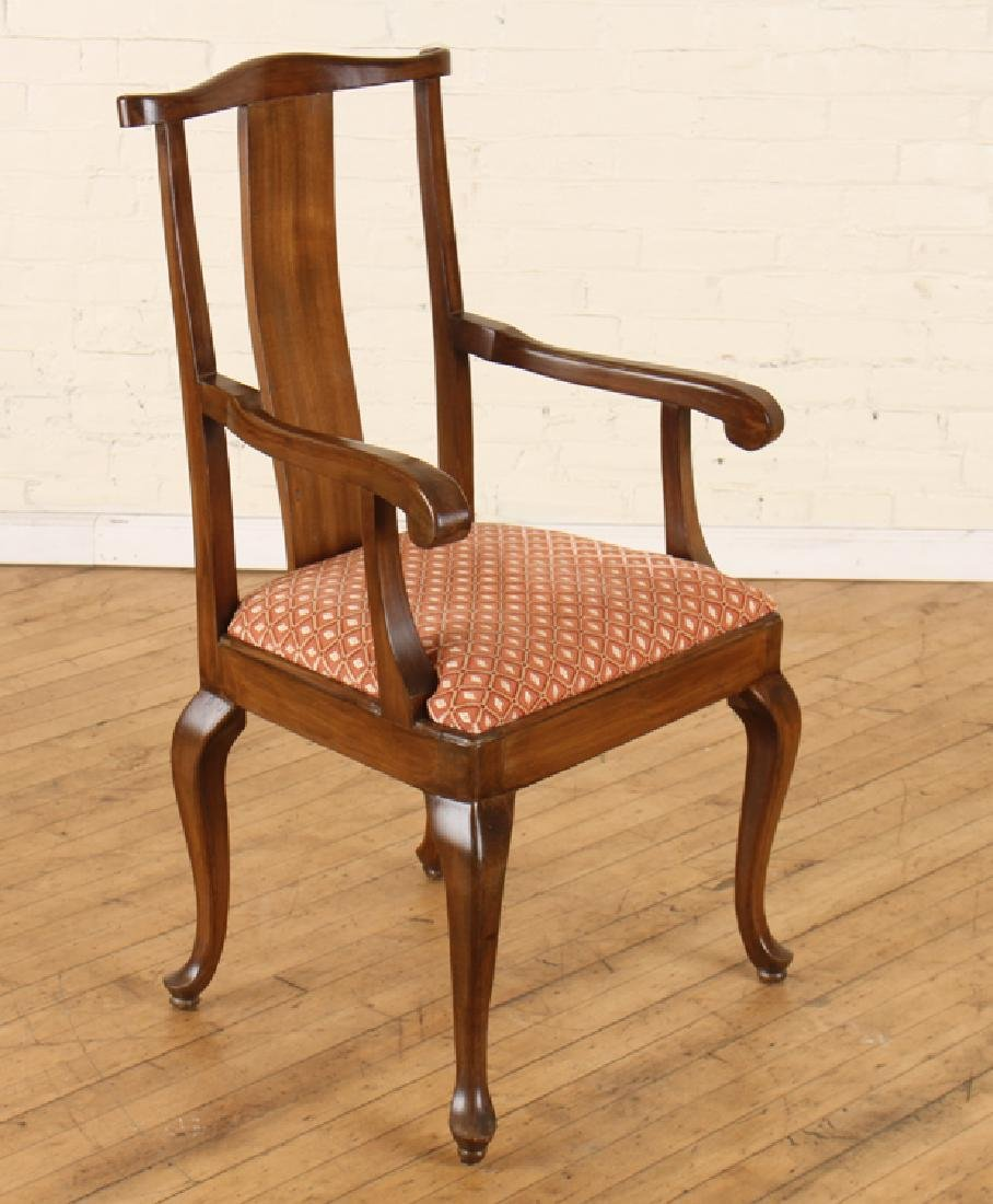 SET 6 QUEEN ANNE STYLE WALNUT DINING CHAIRS - 2