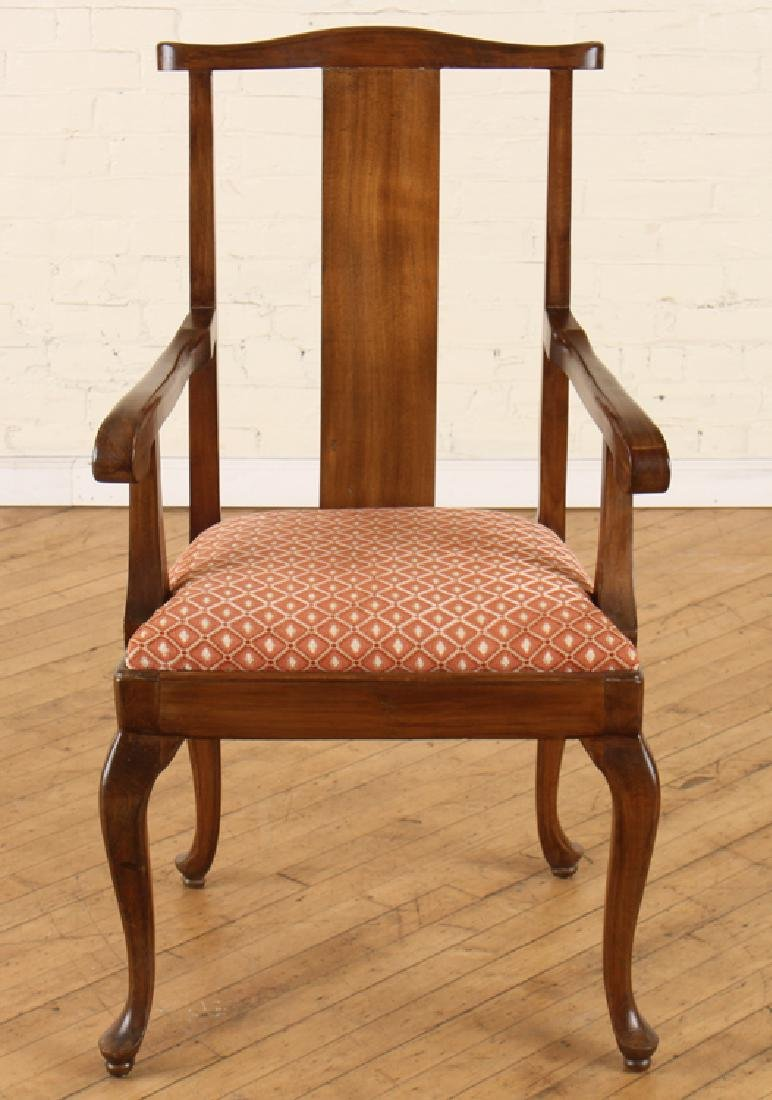 SET 6 QUEEN ANNE STYLE WALNUT DINING CHAIRS - 3