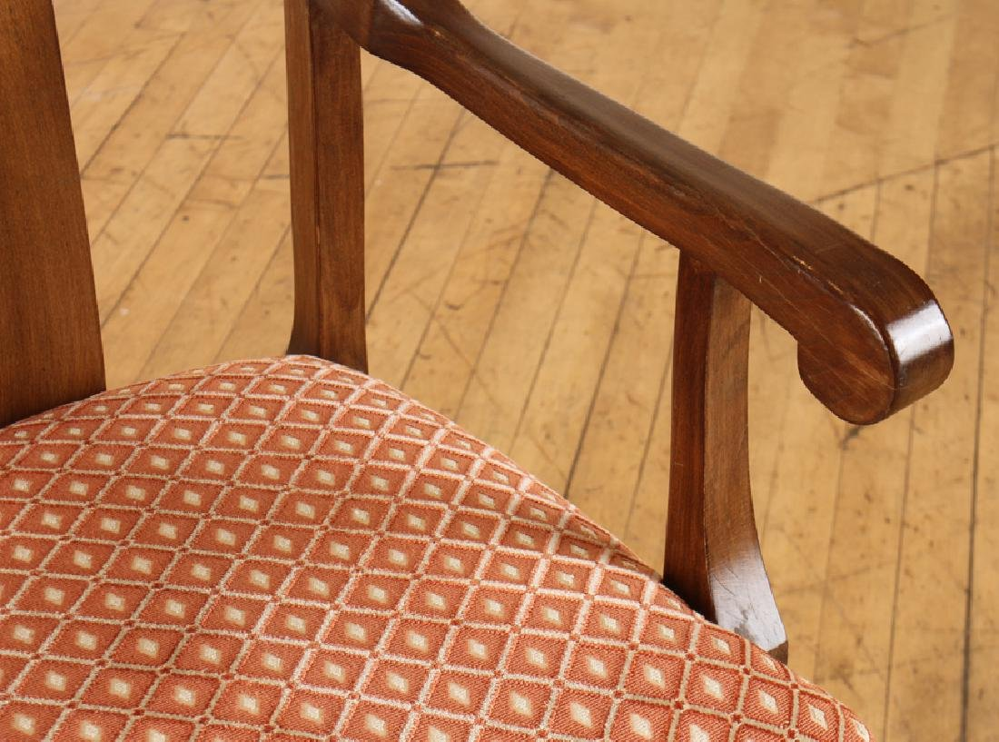 SET 6 QUEEN ANNE STYLE WALNUT DINING CHAIRS - 4