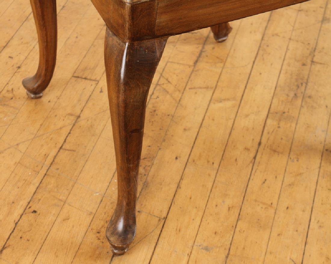 SET 6 QUEEN ANNE STYLE WALNUT DINING CHAIRS - 5
