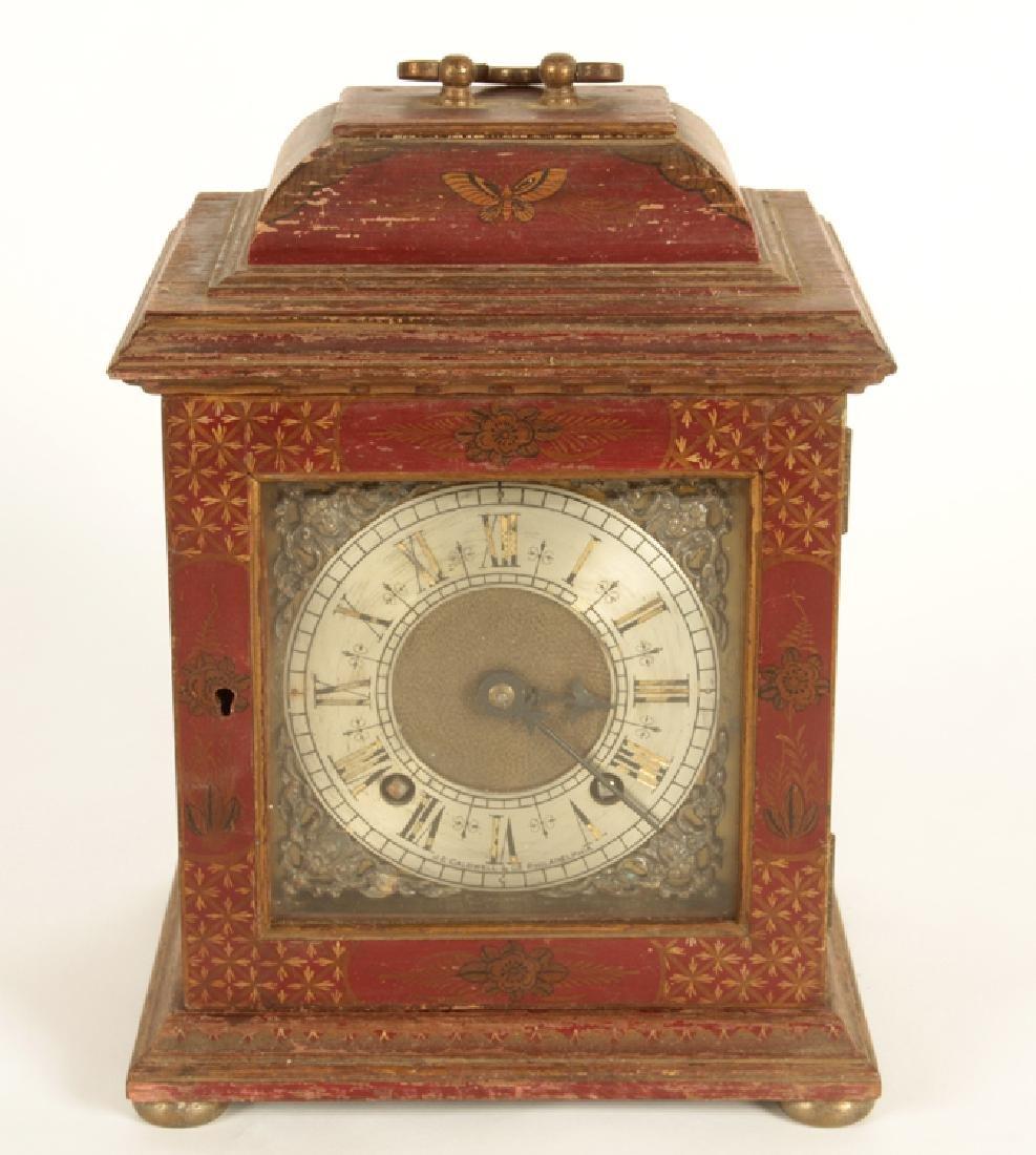 ENGLISH BRACKET CLOCK RETAILED BY J.E. CALDWELL