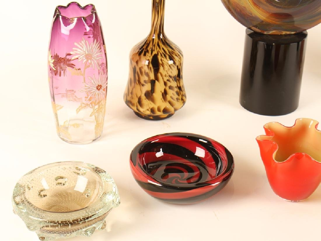 LOT OF 10 PIECES OF ART GLASS MURANO - 3