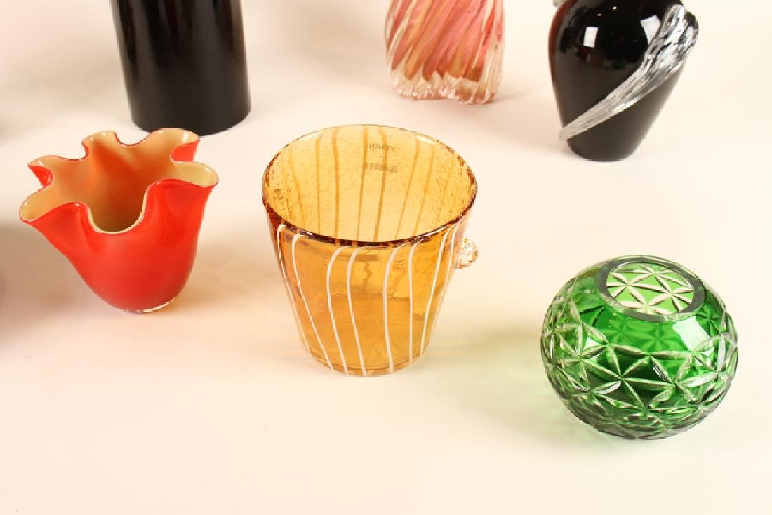 LOT OF 10 PIECES OF ART GLASS MURANO - 5