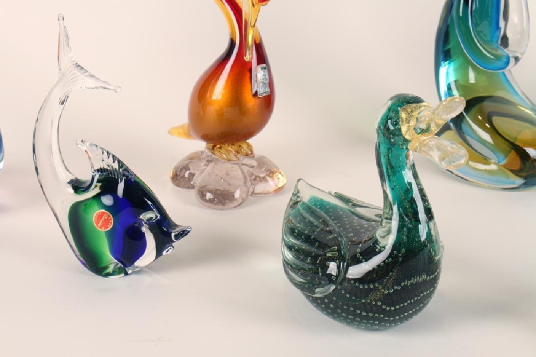 8 PIECES OF ART GLASS MURANO - 5