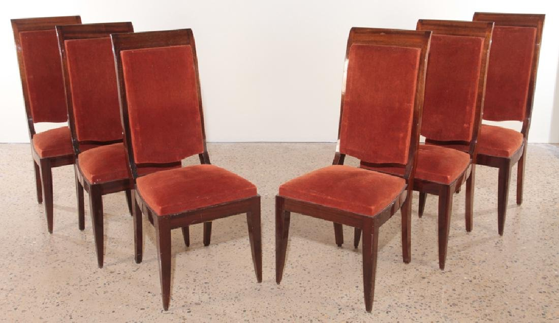 SIX FRENCH GASTON POISSON DINING CHAIRS 1940