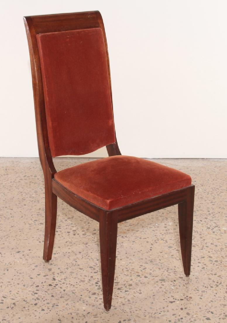 SIX FRENCH GASTON POISSON DINING CHAIRS 1940 - 2