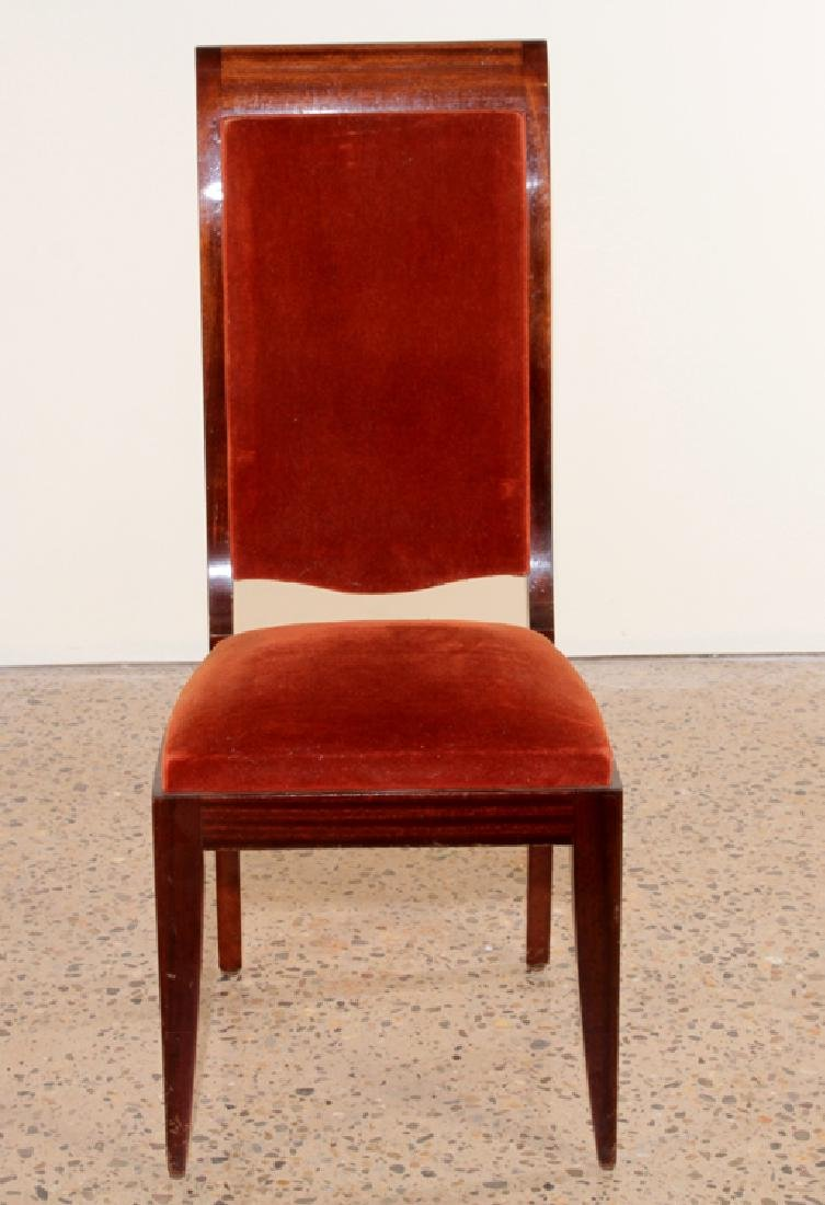 SIX FRENCH GASTON POISSON DINING CHAIRS 1940 - 3
