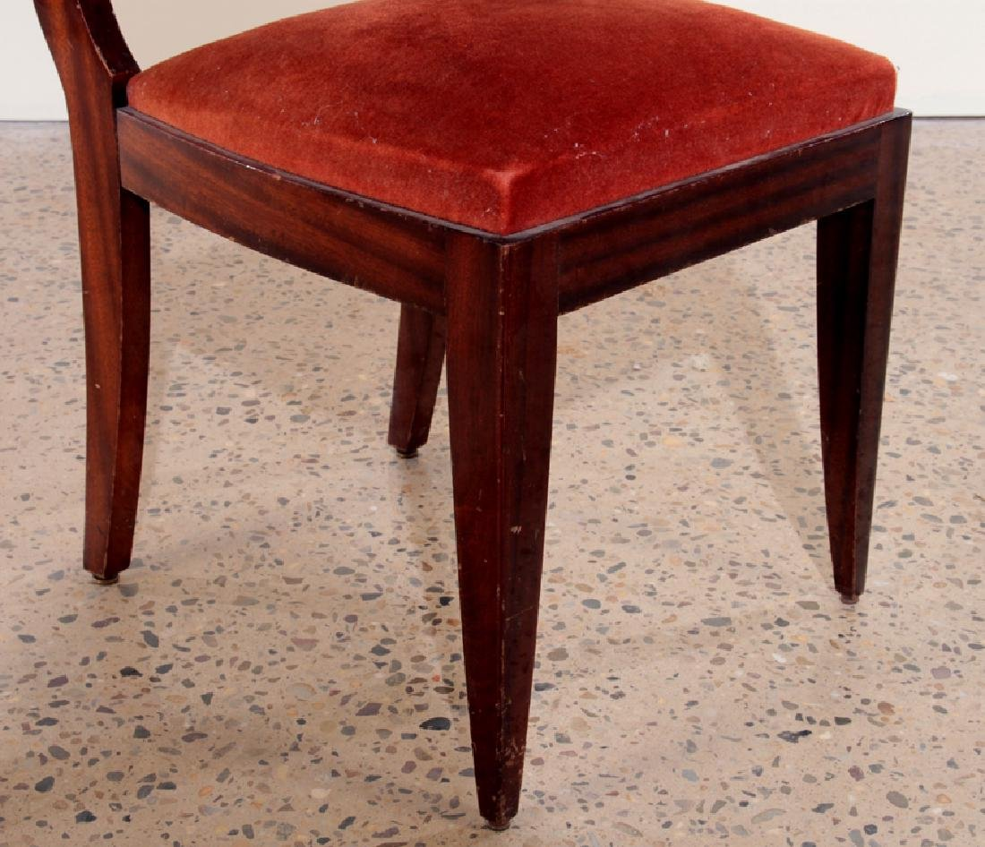 SIX FRENCH GASTON POISSON DINING CHAIRS 1940 - 5
