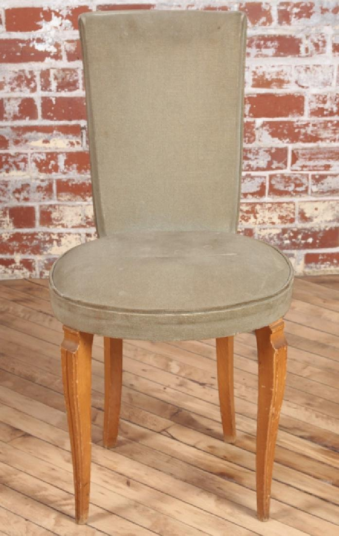 PETITE PAIR FRENCH UPHOLSTERED SIDE CHAIRS C.1950 - 3