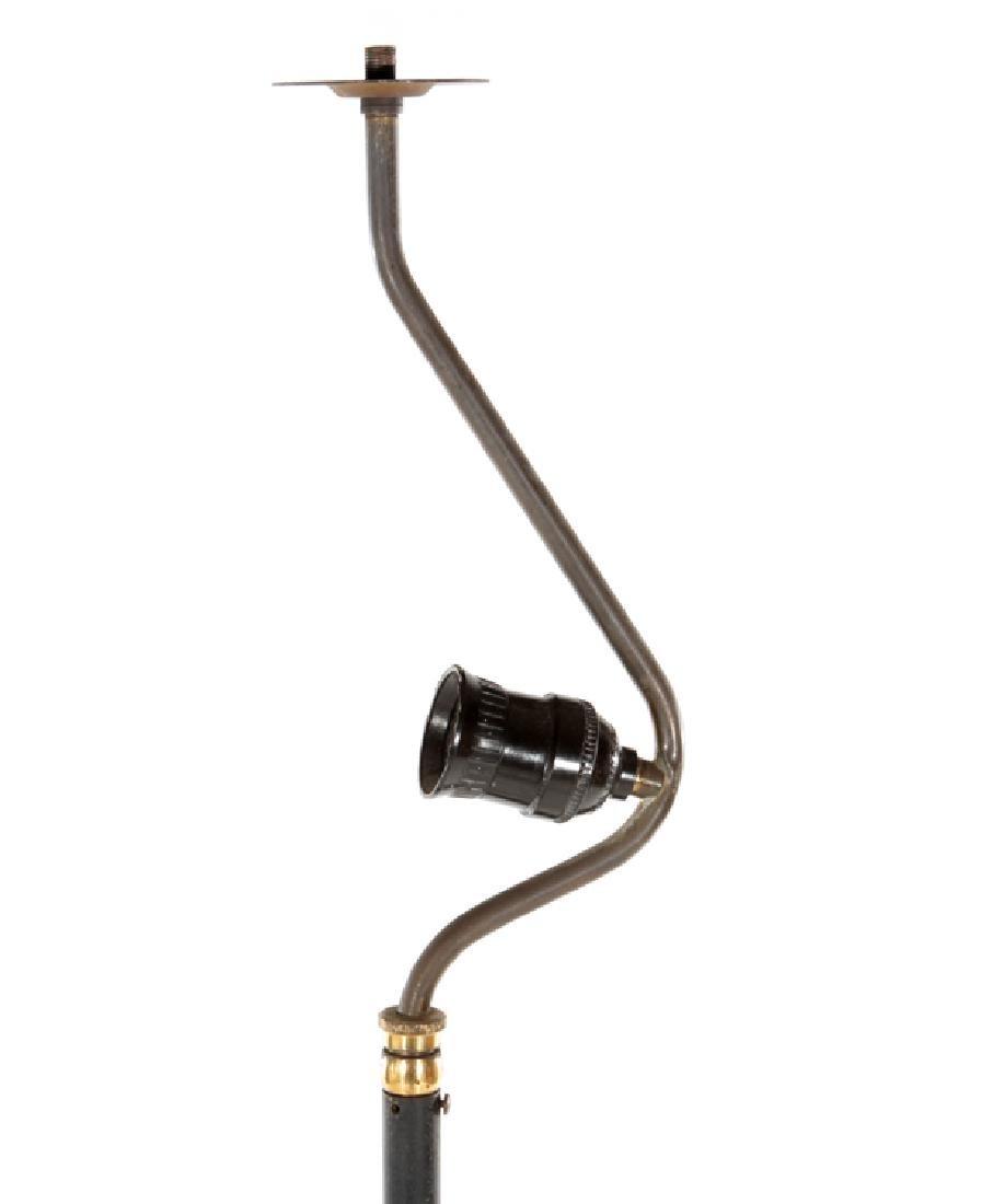 BRONZE AND IRON FLOOR LAMP TRIPOD LEGS CIRCA 1940 - 2