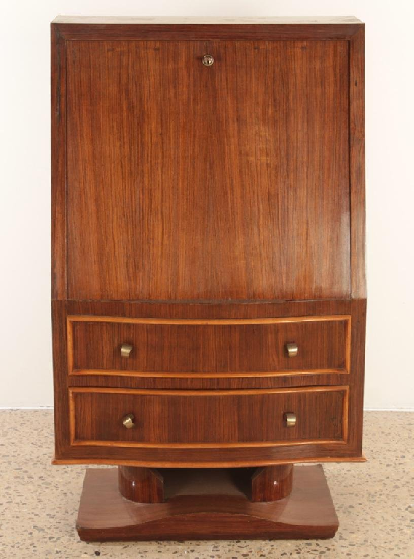 FRENCH ROSEWOOD FALL FRONT DESK CIRCA 1950