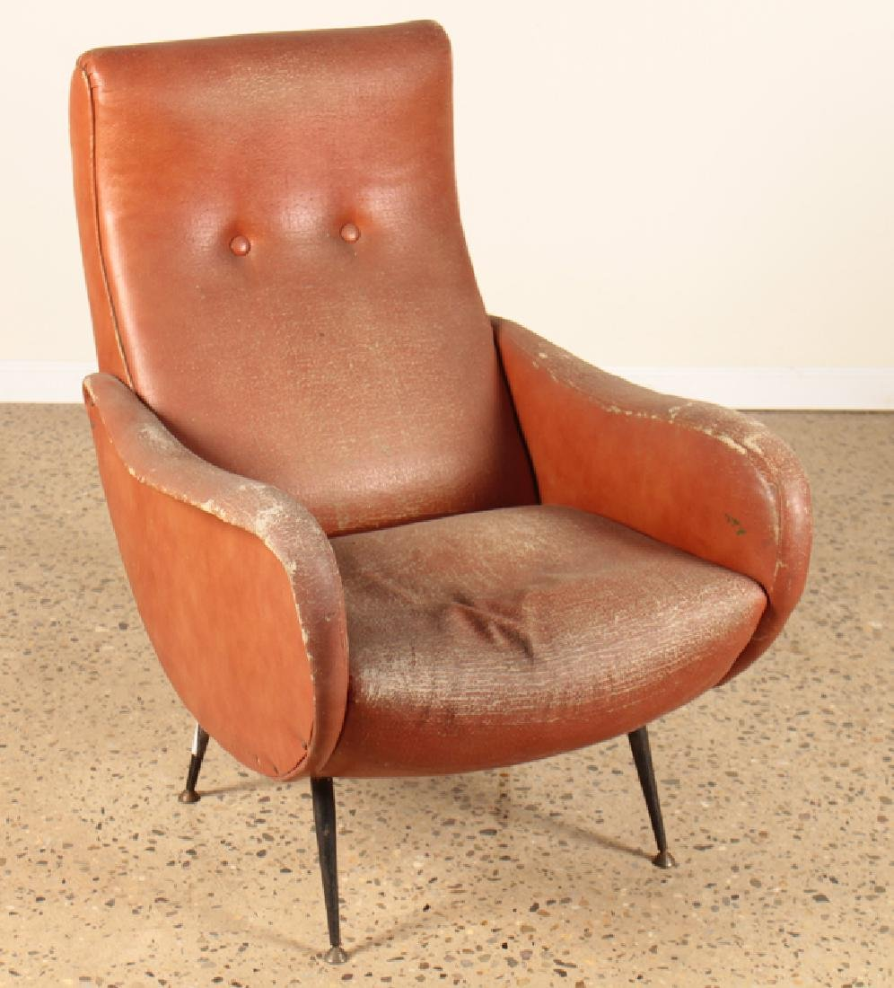 ITALIAN CLUB CHAIR MANNER OF MARCO ZANUSO C.1960