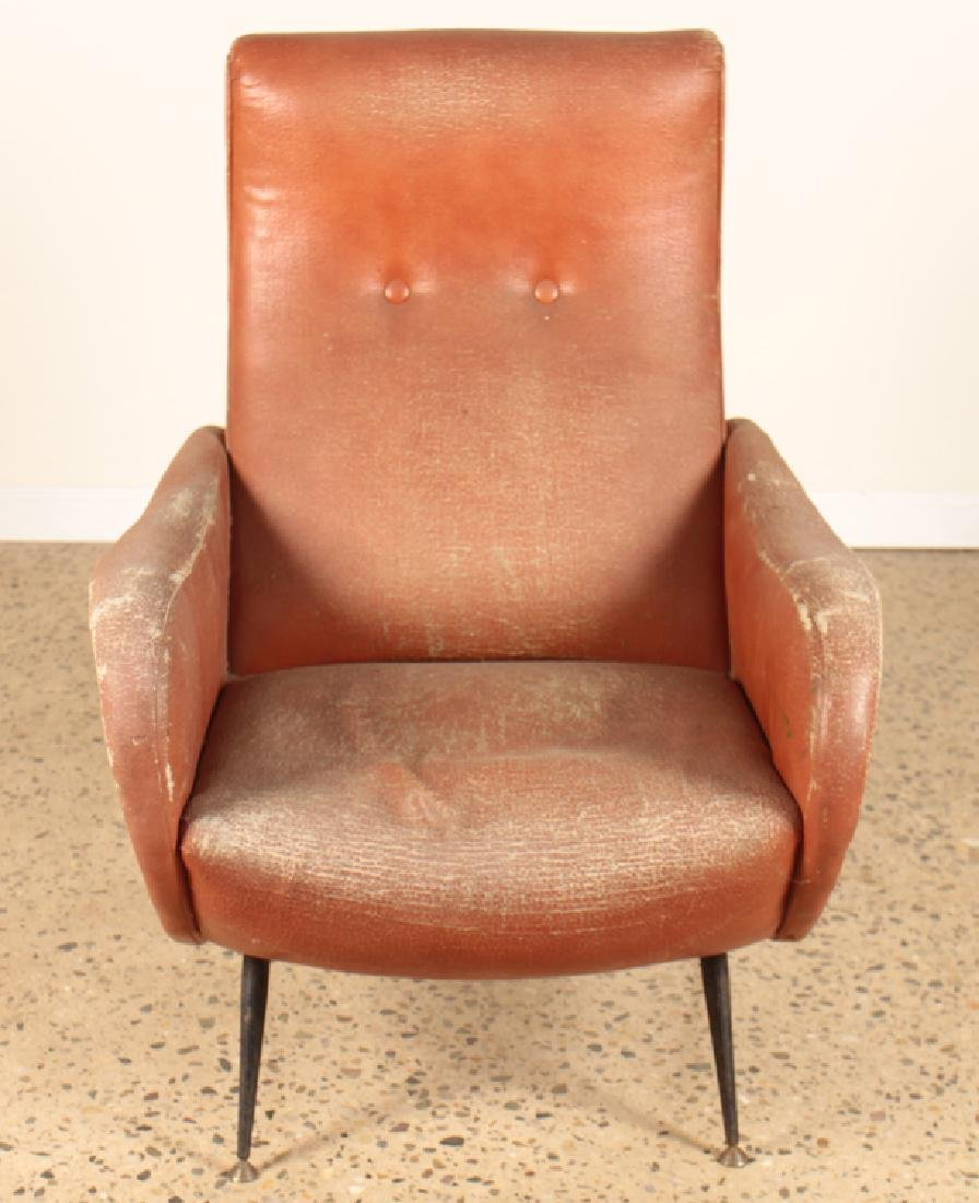 ITALIAN CLUB CHAIR MANNER OF MARCO ZANUSO C.1960 - 2