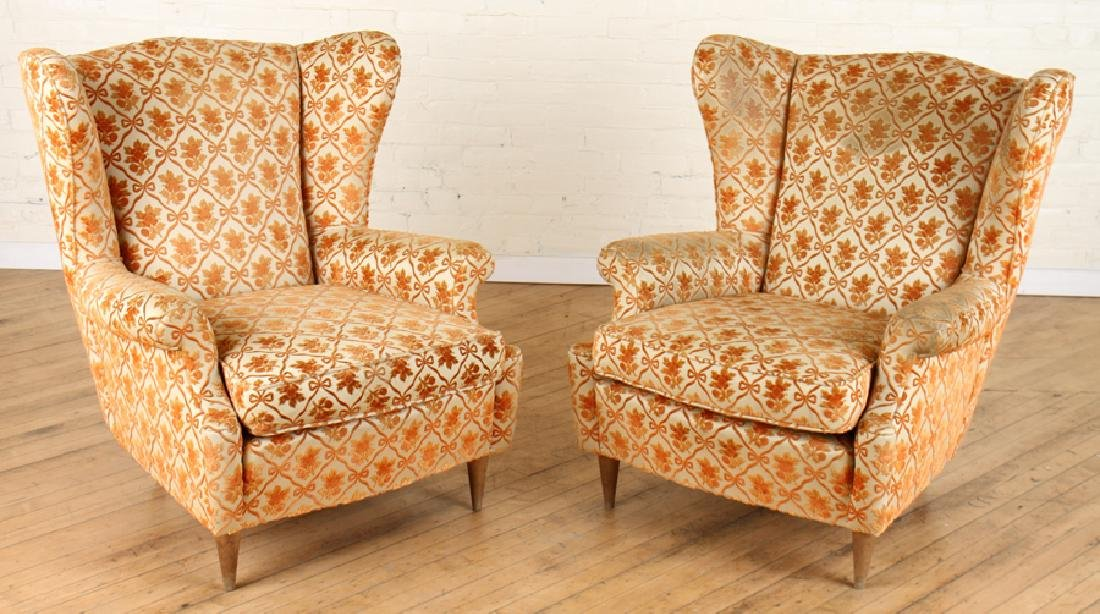 PAIR OF ITALIAN ARM CHAIRS CIRCA 1950.