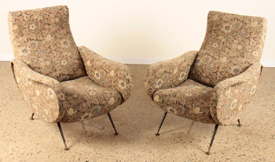 PAIR CLUB CHAIRS MANNER OF MARCO ZANUSO C.1960