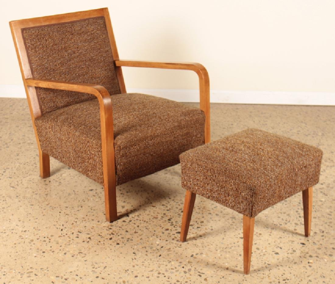 A PAIR OF ITALIAN WALNUT OPEN ARM CHAIRS C.1950 - 2