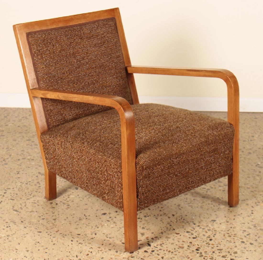 A PAIR OF ITALIAN WALNUT OPEN ARM CHAIRS C.1950 - 3