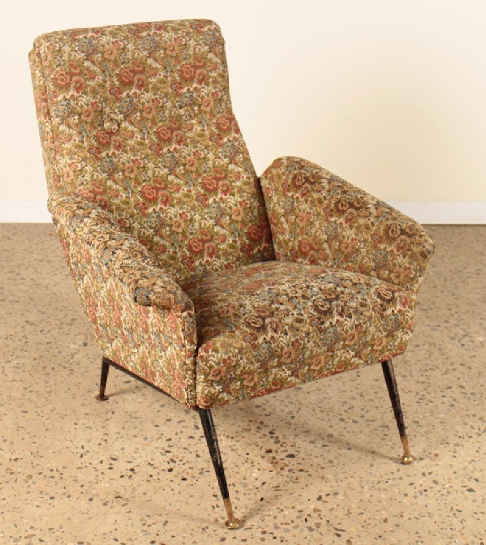 PAIR ITALIAN FLARED ARM LOUNGE CHAIRS C.1960 - 2
