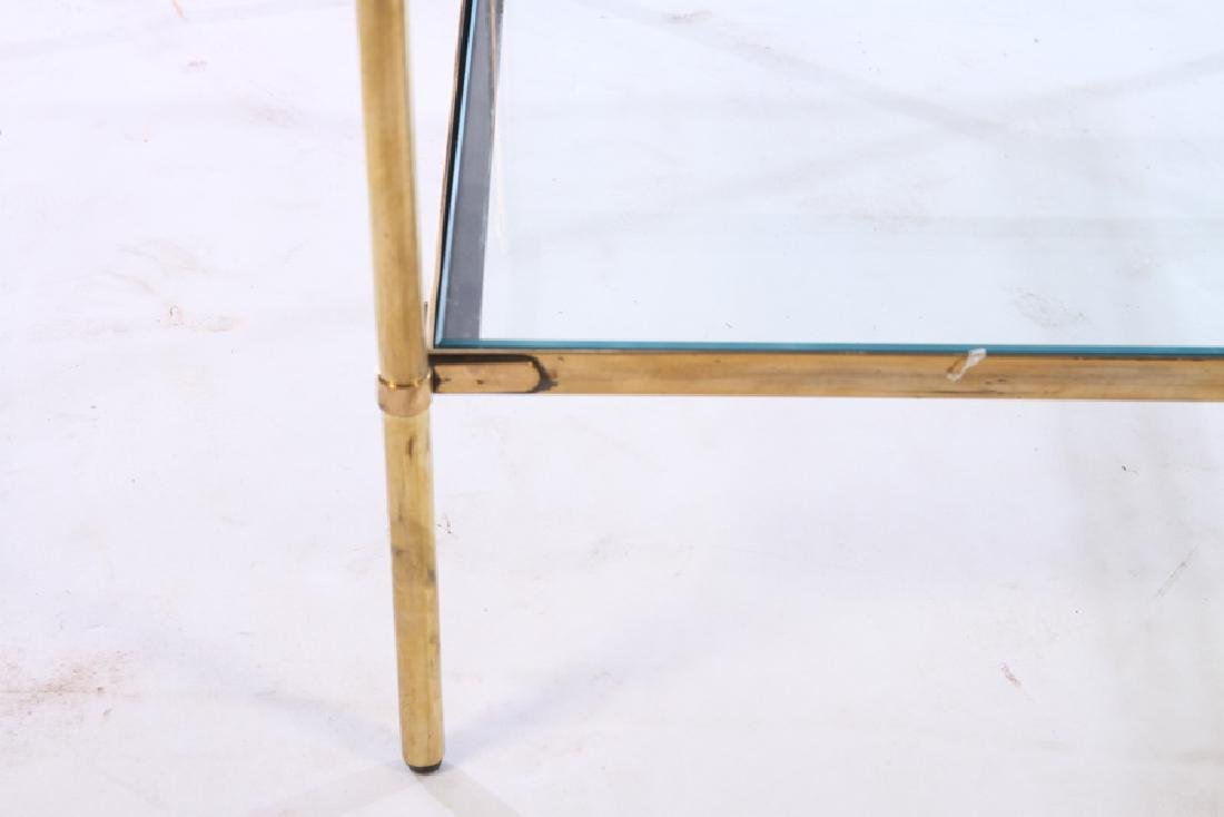 ITALIAN DELL'ACQUA BRASS SIDE TABLE 2 TIER 1970 - 4