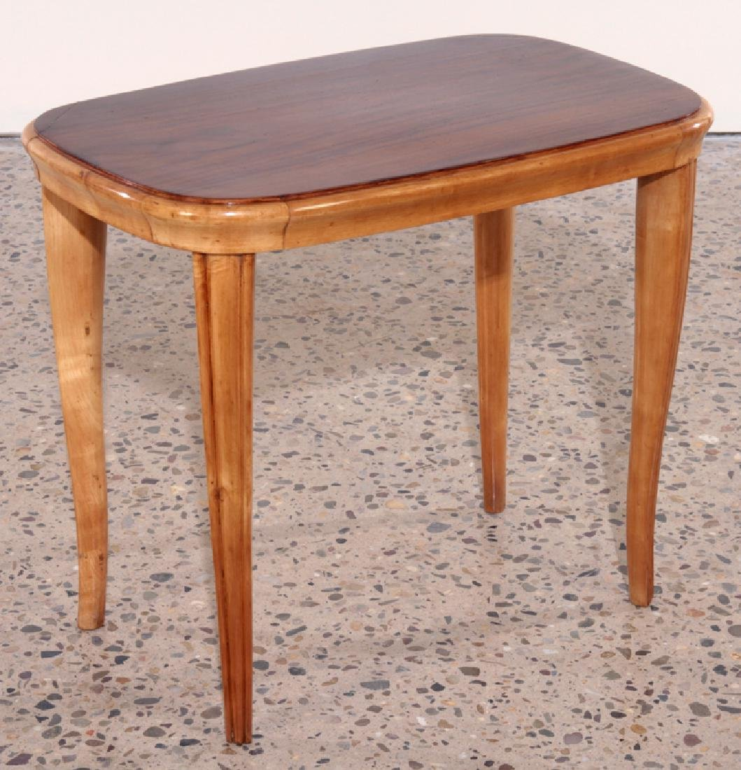 PAIR AFRICAN MAHOGANY ITALIAN END TABLES C.1960 - 2