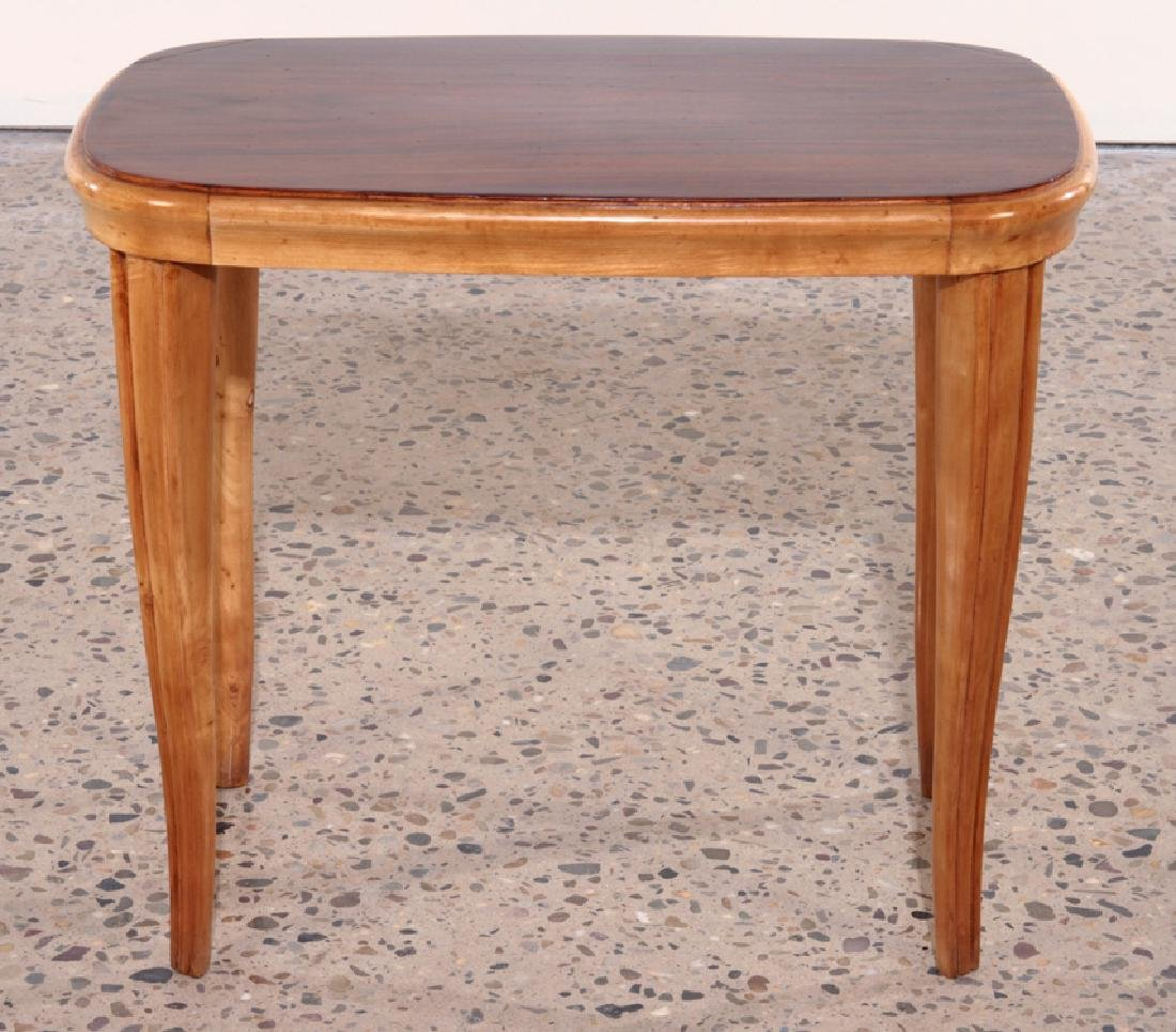 PAIR AFRICAN MAHOGANY ITALIAN END TABLES C.1960 - 3
