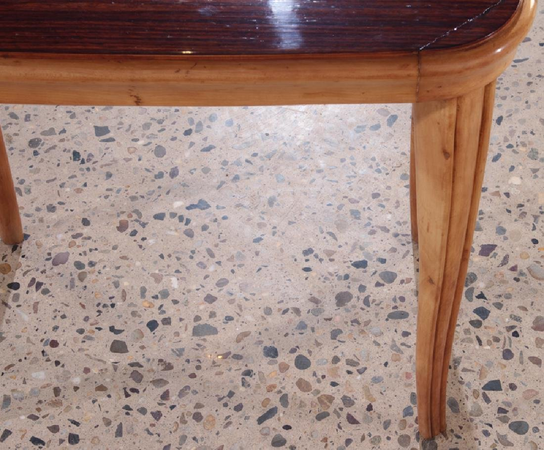 PAIR AFRICAN MAHOGANY ITALIAN END TABLES C.1960 - 5