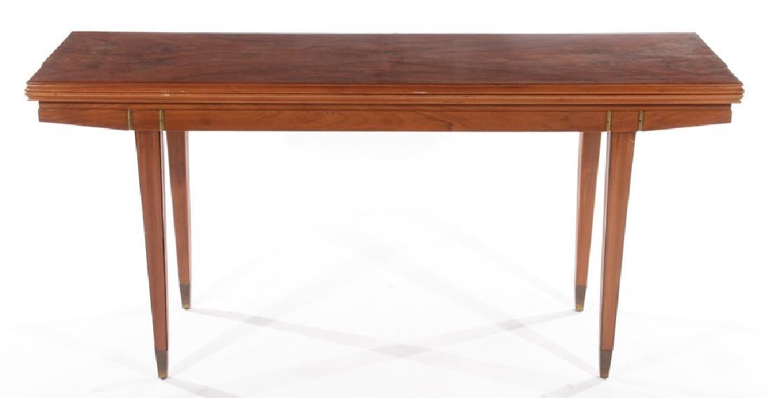 ITALIAN FLIP TOP WALNUT CONSOLE TABLE 1960 - 2