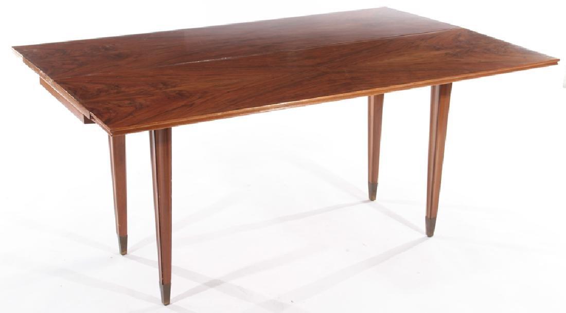 ITALIAN FLIP TOP WALNUT CONSOLE TABLE 1960 - 3