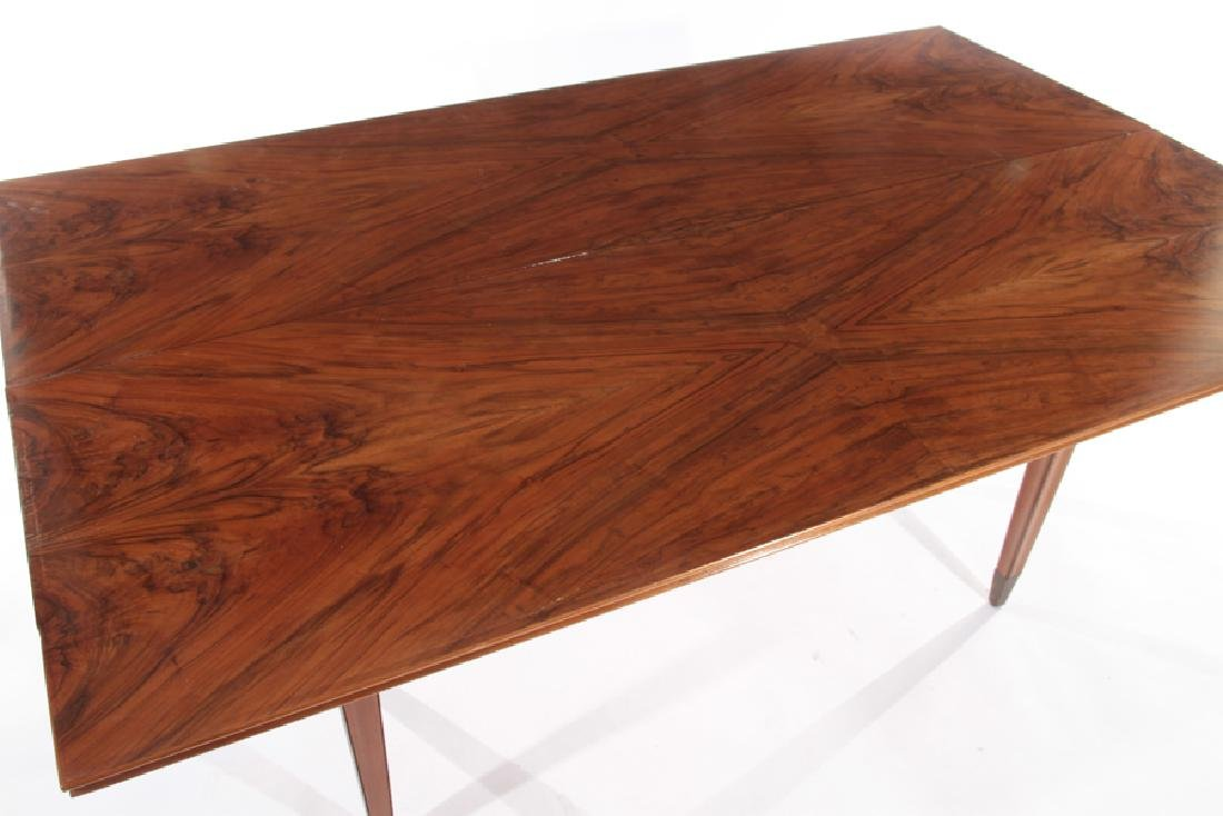 ITALIAN FLIP TOP WALNUT CONSOLE TABLE 1960 - 4
